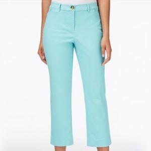 Charter Club blue tummy control Capri pants 8 NWT